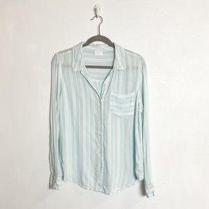 Abound striped button down long sleeve shirt